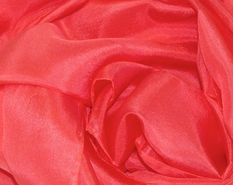 Red Silk Scarf - Habotai Silk Scarf - 4 Sizes - Great Gift - Low shipping