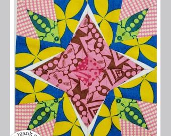 Starfruit #219 Paper Pieced Quilt Pattern PDF - 3 sizes