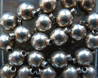 Sterling silver beads ~ India