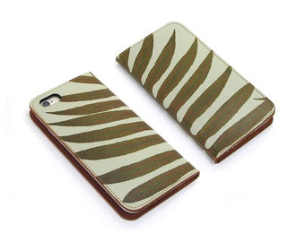 Leather iPhone 6 case, iPhone 6s Case, iPhone 6s Plus Case - Minimal Fern (Exclusive Range)