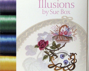 Floral Illusions Machine Embroidery Card
