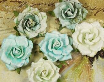 Belle Arte Aquarius Paper Flowers by Prima (craft embellishments)