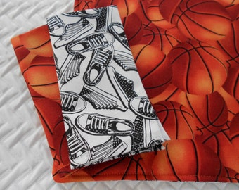 Kids Lunchbox Set, Basketball Sneaks, Placemat and Napkins, Montessori School Placemat and Napkins Set, Basketball Placemat Sneaker Placemat