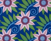 COUPON Sale - Free Spirit, Gregory's Garden, Clematis, Fuschia, Jane Sassaman, 100% Cotton Quilt Fabric, Floral Fabric, SELECT A SIZE