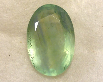 50.5 cts. ... Green Fluorite Faceted Gemstone ... 28 x 19 x 12  MM