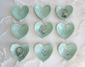Candle holder, Birthday favor, wedding favor, bridal shower favor,  ceramic storage heart dishes