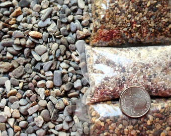 Bulk by the pound Small Micro stones-Miniature Pebbles for terrariums-Vivariums-Weddings-Craft Projects and More