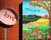 Print on Wood : Cultivating Your Joy   5x7   #68-PW