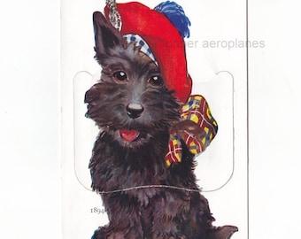 Cute Scottie Dog 'A Little Scotch from Bondi Beach'  Vintage Sydney Australia Novelty Illustrated + 9 Photo Views Postcard