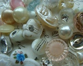 38 Gorgeous Antique Buttons Vintage Glass Buttons Rhinestone Wedding Button Jewelry Collection Lot N0 21