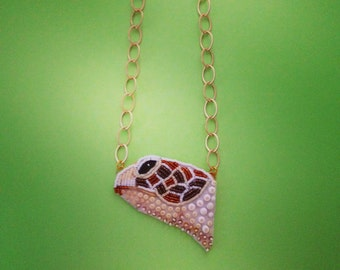 Bead Embroidered Turtle Head Necklace