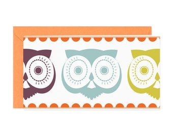 Retro Owl Enclosure Gift Card