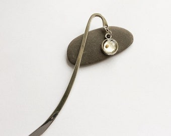 mustard seed bookmark - small silver decorative bookmark with mustard seed charm - faith gifts - gifts under 15 - Bible bookmark