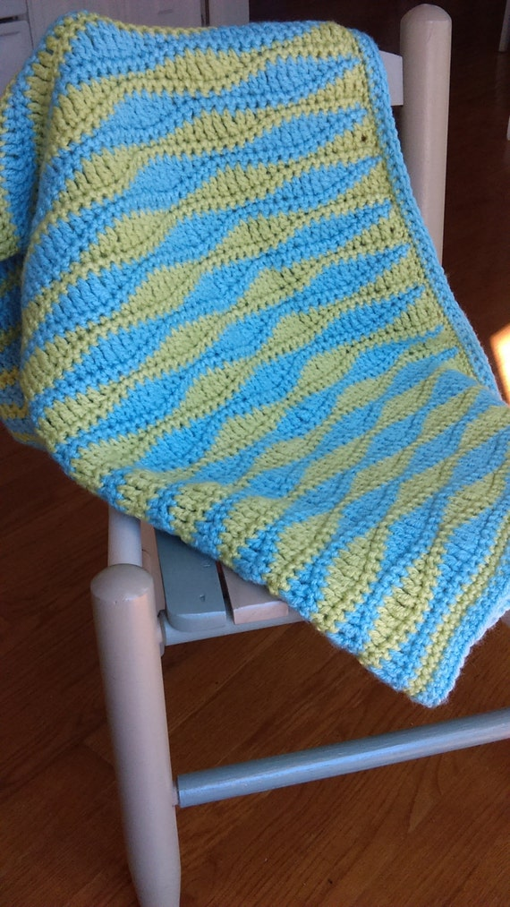 Sea Waves Baby Blanket Crochet Pattern Pdf Available for