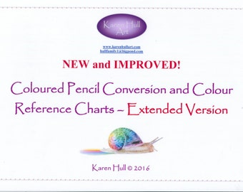 All New Coloured Pencil Conversion and Comparison Reference Charts - Extended Version