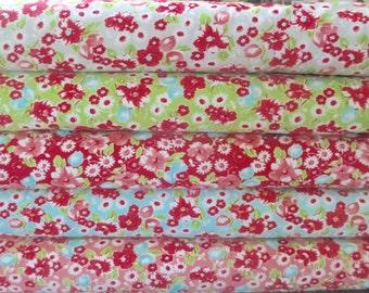 Little Ruby Half Yard Fabric Bundle - Moda - Bonnie and Camille