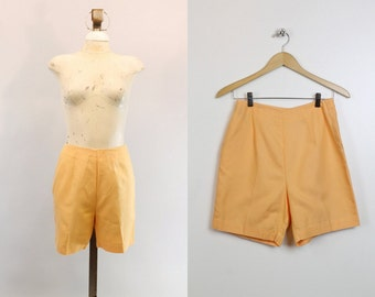 50s Vintage Shorts Small / 1950s Vintage Cotton Shorts / Pin Up Girl High Waisted Pants