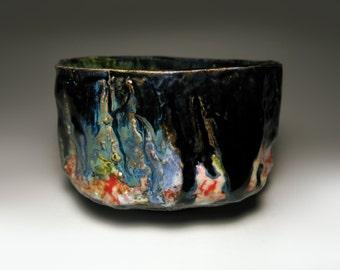 Chawan / Raku tea bowl / bol à thé raku / 120 x 70 mm