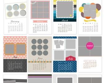 2016 Calendar Set 11x17 Photo Calendar Template, Calendar Template, Photo Calendar, 2016 Custom Calendar, 2016 Calendar, Photo Template