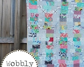 Wobbly Quilt Pattern, Crib and Throw Sizes, EASY