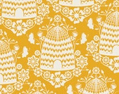 1 HALF YARD Honey House in sunflower by Bonnie Christine, Art Gallery, Sweet as Honey fabrics
