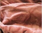 Surprise SALE - Shabby Antique Velvet Fabric Pink 1920s