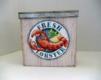 Galvanized Lobster Tin