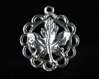 Charm, Sterling Silver, Silver Maple Leaf, Sterling Canada Charm, State Plant, Souvenir, Travelers Good Luck Charm