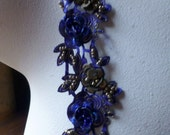"""Beaded Trim 18"""" in Deep Blue for Headbands, Costume or Jewelry Design"""