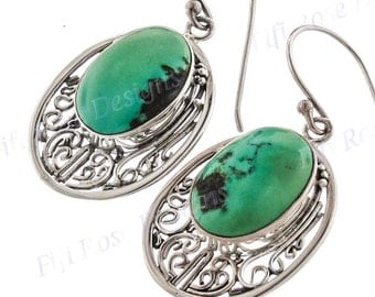 """7/8"""" Adorable Turquoise 925 Sterling Silver Earrings"""