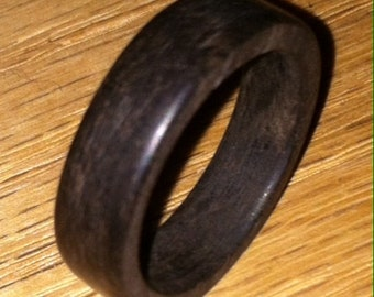 Hand Crafted Ebony Rings - Custom Made To Order