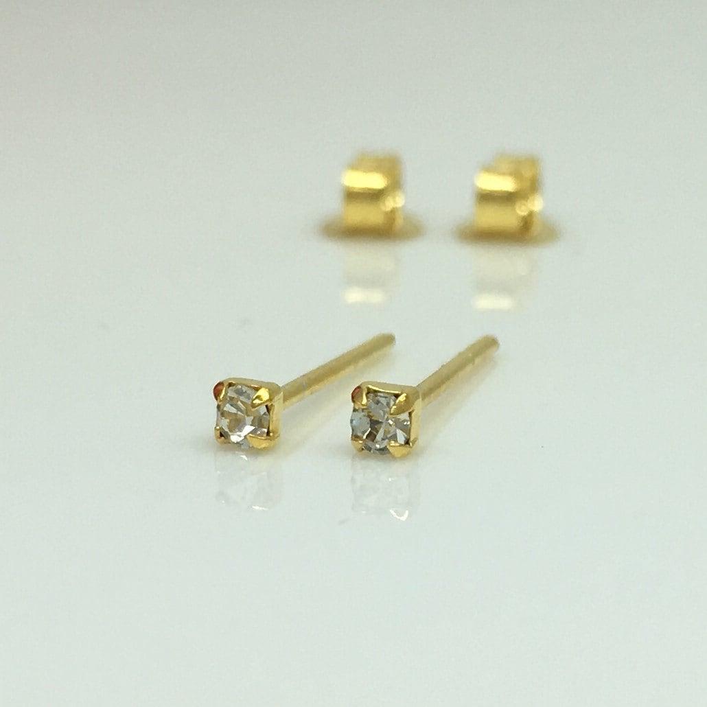 Diamond Cz Cartilage Piercing Stud Earrings, Cz Diamond Stud Earrings, Stud  Earrings, Cartilage