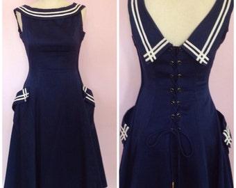 Vintage 1950s Sailor Dress