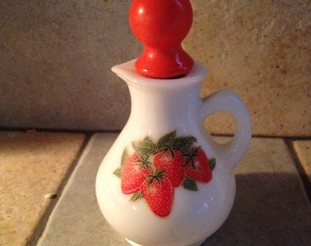 Avon Ruby Red Strawberry Decanter