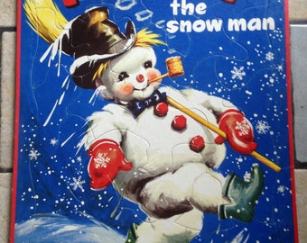 1951 Frosty the Snowman Tray Puzzle by Whitman