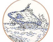 Love Whale Embroidery Kit