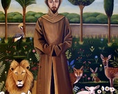 St. Francis Of Assisi Fine art print 8x10 by Catherine Nolin