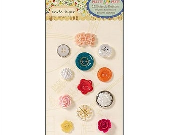 Pretty Party - Eclectic Buttons - Crate Paper