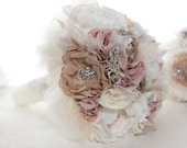 Custom fabric brooch bouquet reserved for Deanna