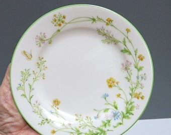 Set of 4 Noritake Bread & Butter Plates Reverie  Bone China Vintage 1970s