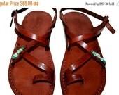 20% OFF Brown Decor Roxy Leather Sandals for Men & Women - Handmade Sandals, Brown Leather Flats, Leather Flip Flops, Unisex Sandals, Decor