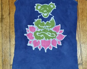 The Grateful Dead Dancing Bear Yoga Lotus Tank Top Batik CUSTOM