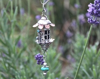 Whimsical Garden Faery Cottage Necklace