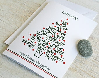 christmas card christmas tree holiday card create card Prairie Garden
