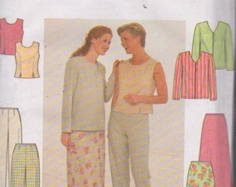 Simplicity 7970 Misses' Jacket, Top, Pants and Skirt Sizes 10, 12, 14 UNCUT Pattern Easy Pattern