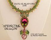 Springtime Dragon Necklace Kit and Tutorial for Intermediate Beadweavers