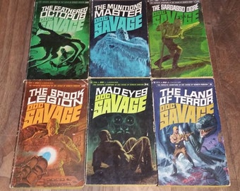 Doc Savage by Kenneth Robeson Six Vintage Paperback Books