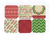 SALE Christmas Mini Note Cards (set of 6) CMN13 / Ready To Ship