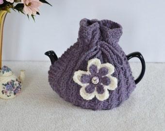 Medium Size Hand Knitted Tea Cosy, Tea Cosie, Cozy