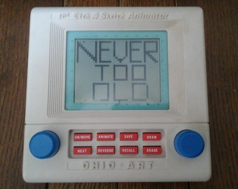 Vintage Etch-A-Sketch Electronic Animated